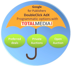 Private ad auctions & preferred deals for publishers now at Total Media Group